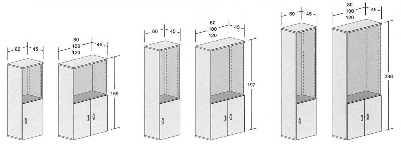 Dimensoins armoires avec niche OH SYSTEMS