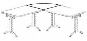 Complément table pieds rabattables