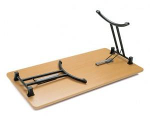 Table de réunion pieds rabattables