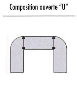 Configuration table plateau rabattable