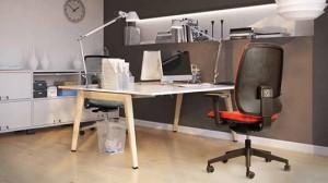 Freundlicher Arbeitsplatz - nice desktop in sunlight