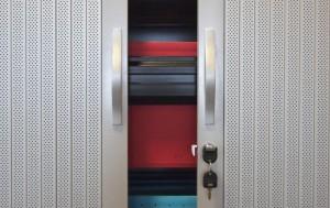 Armoire à rideaux acoustiques