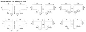 Forme de bureau Compact 1 90