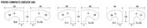 forme de bureau Compact arc